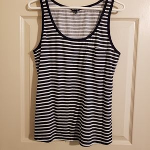 2/$15 George Tank Top with Pocket Navy & White XL